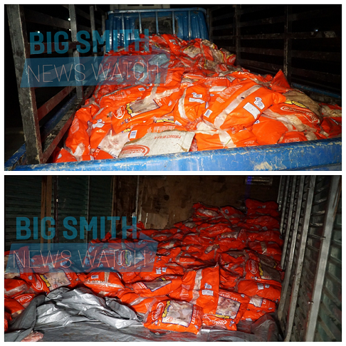 700+ boxes of smuggled chicken linked to businessman seized